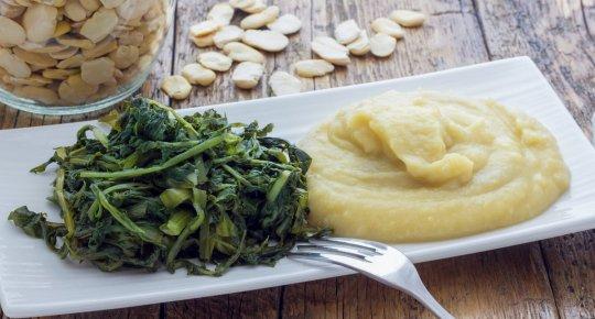 Dicke Bohnen und Chicorée