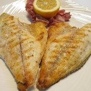 grilled sea bream fillets