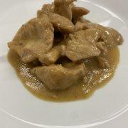 Chicken strips in Worcestershire sauce