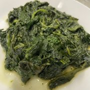 Baked spinach