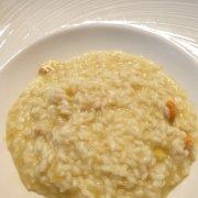 risotto aux pétoncles et artichauts
