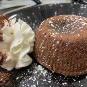 Gâteau au cœur chaud