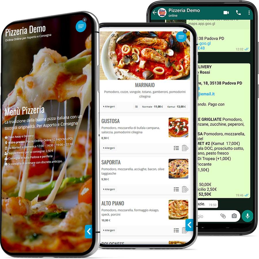 jmenu app ordini ristoranti pizzerie whatsapp