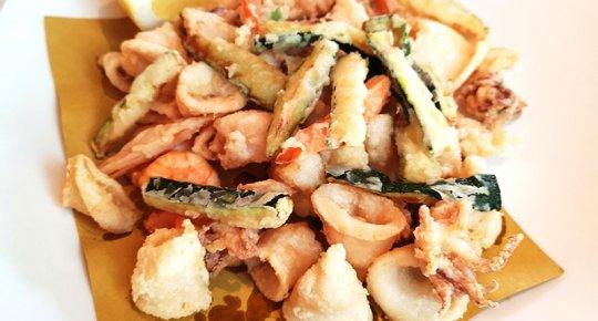 frittura mista con verdure pastellate