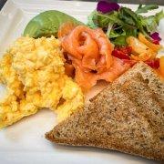salmon scramble eggs